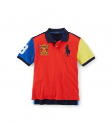 polo big pony dual red mult colorblk boy polo