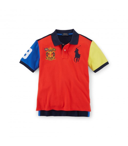 polo big pony dual red mult colorblk boy polo
