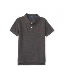 polo grey small pony polo shirt Little Boy