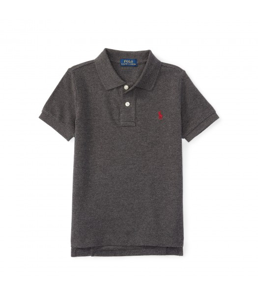 polo grey small pony polo shirt Little Boy