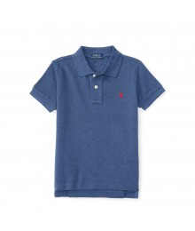 polo navy heather small pony polo shirt  Little Boy