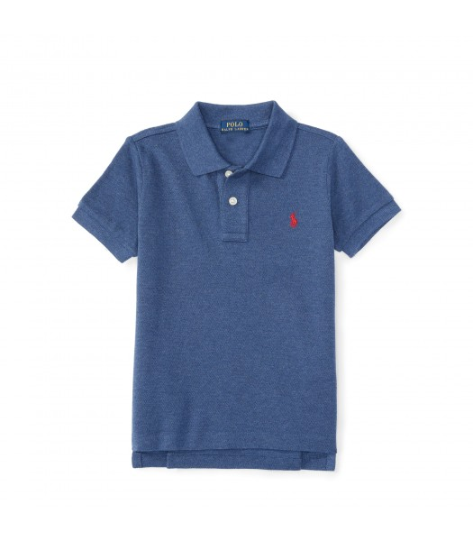 polo navy heather small pony polo shirt