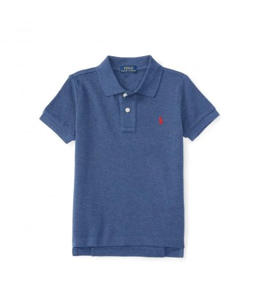 polo navy heather small pony polo shirt