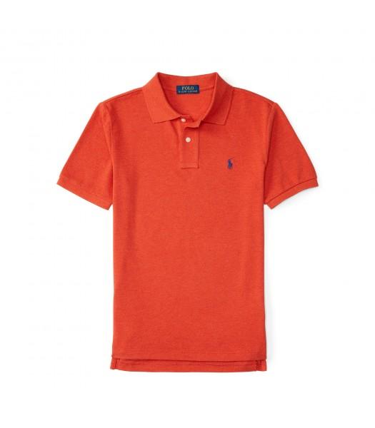 polo orange small pony polo shirt