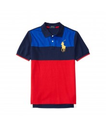 polo big pony blue/black red diagonal boy polo