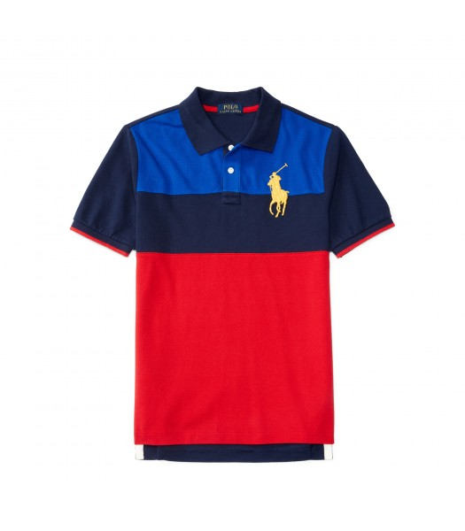 polo big pony blue/black red diagonal boy polo
