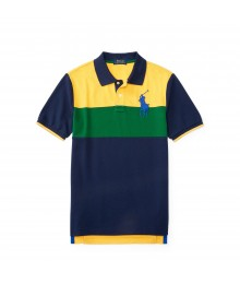 polo big pony yell/green blu horizontal polo