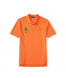 polo orange small pony/ big pony polo shirt