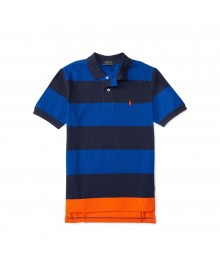 polo small pony blue/black/oran horizontal polo Little Boy