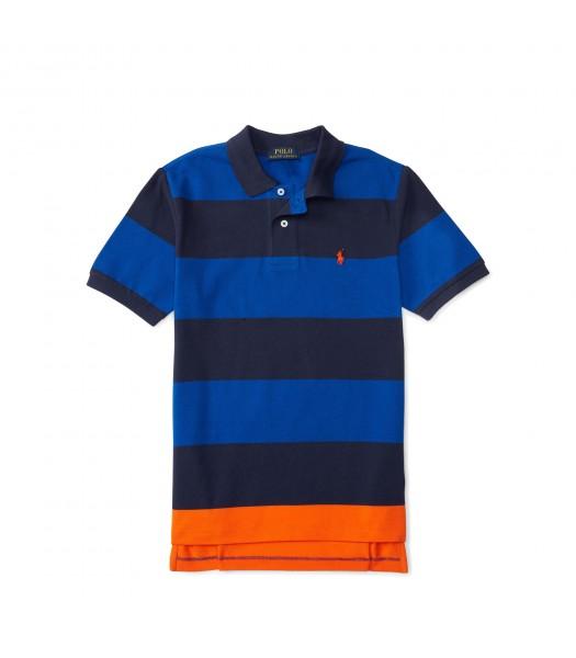 polo small pony blue/black/oran horizontal polo