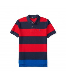 polo red/navy small pony horizont stripe polo Little Boy