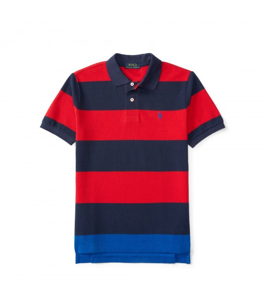polo red/navy small pony horizont stripe polo