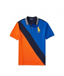 polo big pony blue/black/orange diagonal polo