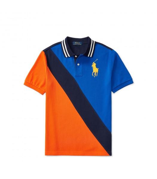 polo big pony blue/black/orange diagonal polo