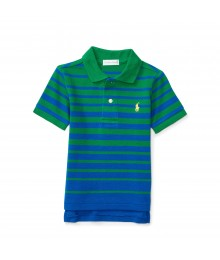 polo green/navy horizont stripe polo