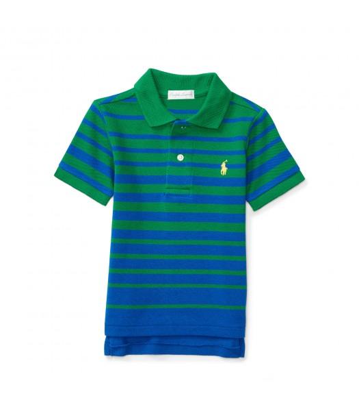 polo green/navy horizont stripe polo