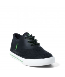ralph lauren black/green vaughn mesh boys sneakers