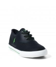 ralph lauren black/green vaughn mesh boys sneakers